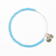 Image For Light Blue Beaded Alex & Ani Bracelet