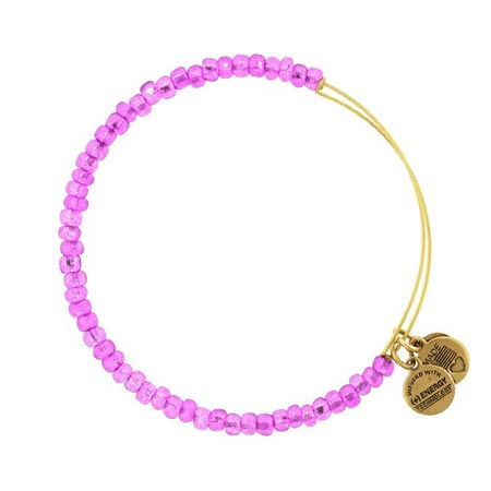 Image For Bright Purple Beaded Alex & Ani Bracelet
