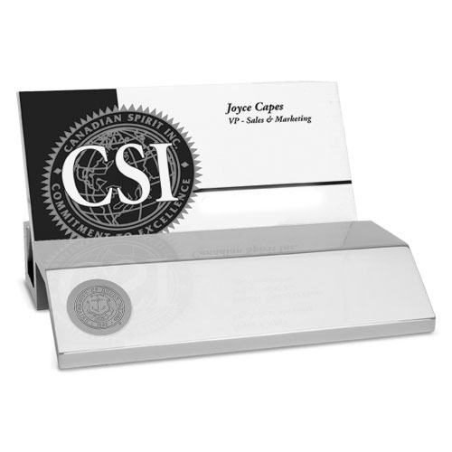 Cover Image For CSI Silver Business Card Holder