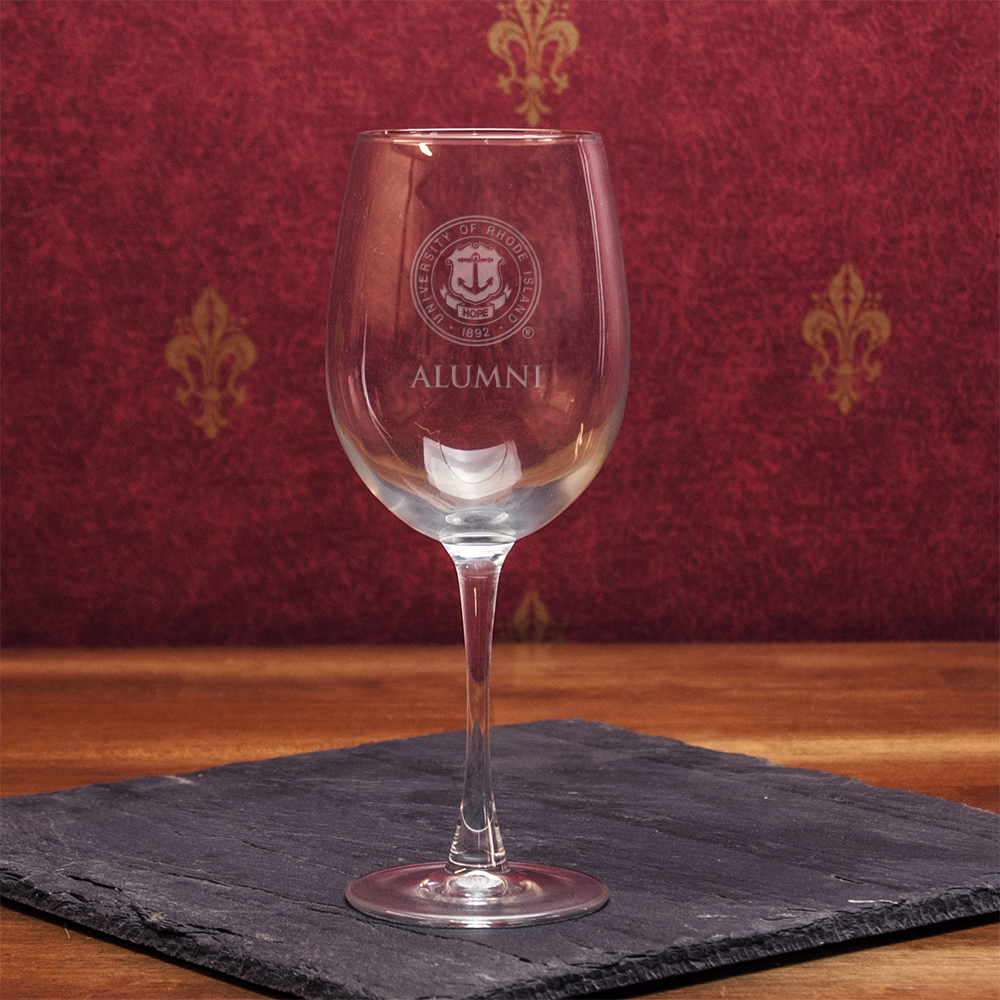 Image For Alumni Wine Glass