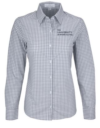 Image For Vantage Ladies Gingham Oxford Shirt