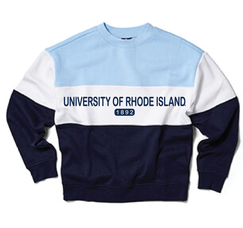 Image For University Tees Colorblock Crew