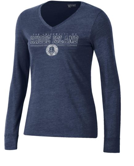 Image For Gear Tri Blend V-Neck Long Sleeve Tee